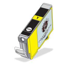 Inkedibles Edible Ink Refillable Cartridge for Canon CLI-271XL (Yellow)