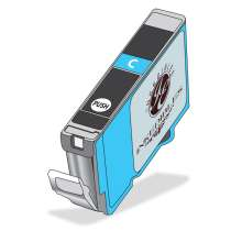 Inkedibles Edible Ink Cartridge for Canon CLI-8C (Cyan)