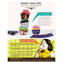 Inkedibles Design-Your-Own Cupcake Wrappables: 120 Precut Cupcake Baking Cup Liners (5 per sheet, 24 sheets per pack)