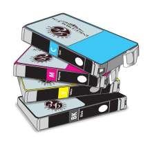 Inkedibles Edible ink Multi-Pack for Epson T126 Series - 4-pack - black, cyan, magenta, yellow