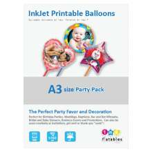 InkFlatables Balloon Professional Starter Pack A3 Size (6 printable balloons, 2 each Round, Heart, Star)