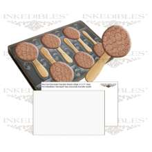 Inkedibles Large Size (11 inch x 7 inch) Magnetic Chocolate Mold (design 530-017, plus 50 precut chocolate transfer sheets to size)
