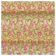 10 in x 15.75 in Pre-printed Inkedibles Chocolate Transfer Sheets (Heart Brushstrokes) Includes 25 sheets