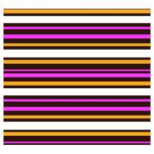 10 in x 15.75 in Pre-printed Inkedibles Chocolate Transfer Sheets (For Love of Stripes) Includes 25 sheets