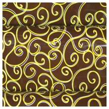 10 in x 15.75 in Pre-printed Inkedibles Chocolate Transfer Sheets (Golden Scrolls) Includes 25 sheets