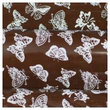 10 in x 15.75 in Pre-printed Inkedibles Chocolate Transfer Sheets (White Butterflies) Includes 25 sheets