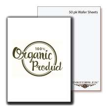 Inkedibles Premium Organic Wafer Sheets Size 0.6mm thickness (50 pack, A4)